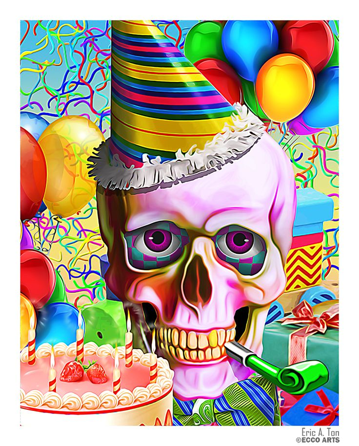 Happy birthday Skull by Eccoton.deviantart.com on @deviantART