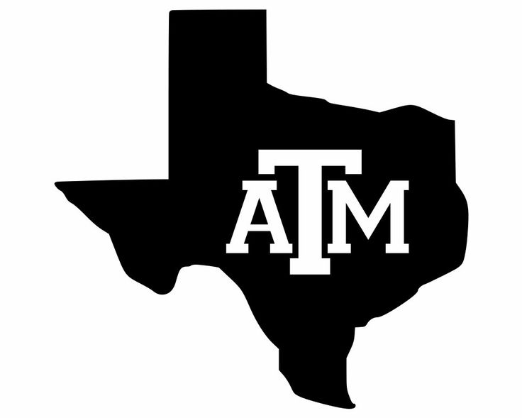 Texas Decals Lone Star State Silhouette With Texas A Amp M