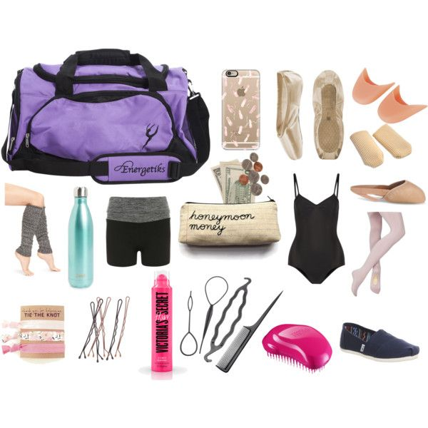 Ballet Bag Essentials by gabstiles on Polyvore featuring Lemon, Dorothy Perkins, Ballet Beautiful, TOMS, Casetify, Tangle Teezer and S'well