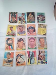 Lot-of-33-Old-Vintage-Baseball-Cards-from-the-50-039-s-and-60-039-s