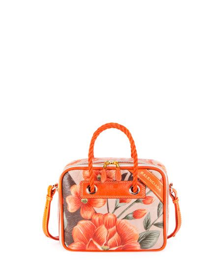BALENCIAGA Blanket Square Medium Floral Shoulder Bag, Multi. #balenciaga #bags #shoulder bags #hand bags #leather #