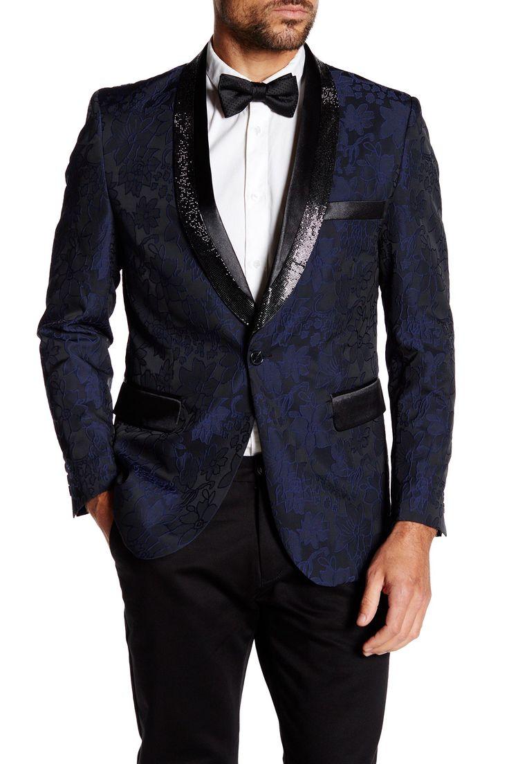 Jacquard Rhinestone Slim Fit Blazer  by TR Premium on @nordstrom_rack