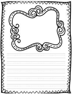 Writing Paper Freebie. Cute!