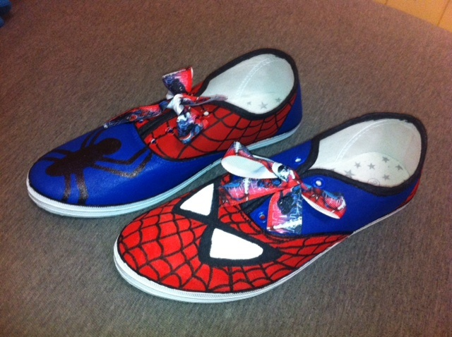 Spider-Man shoes. $75 https://www.facebook.com/