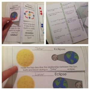 Space Interactive Notebook Pages and Templates - eclipses, rotation/revolution, history of space exploration