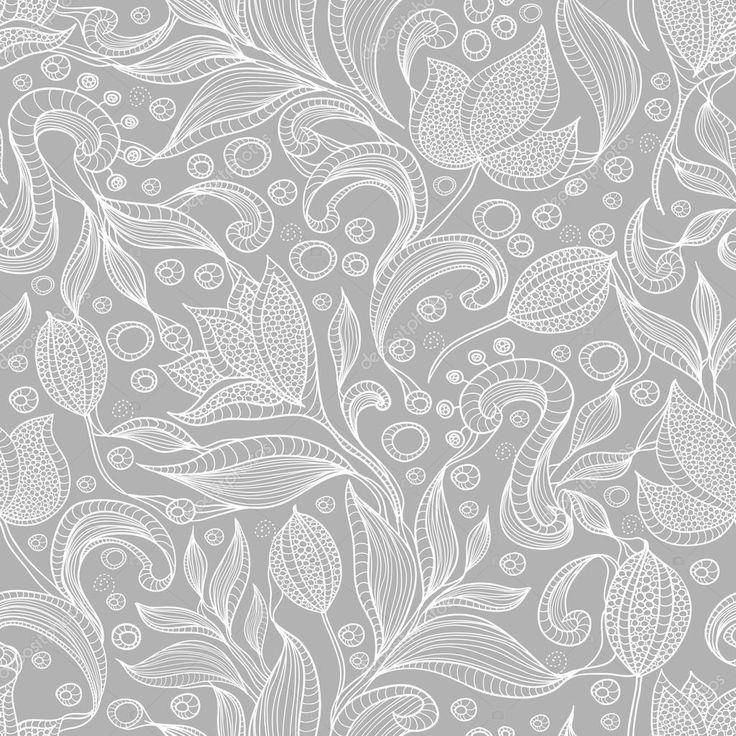 Soyut çiçek desenli. çiçekler ile Seamless Modeli — Stok İllüstrasyon #13193535