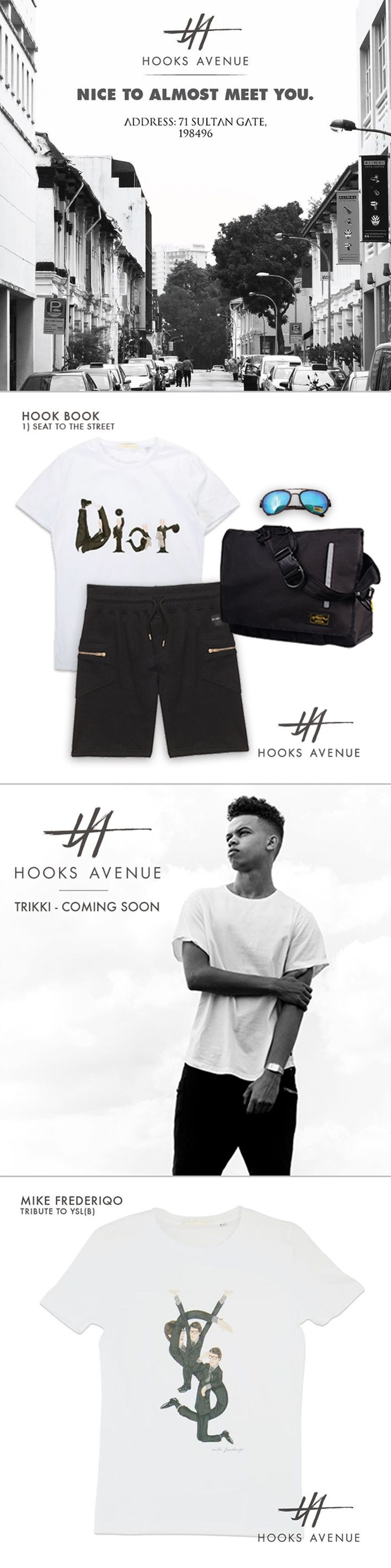 Hooks Avenue is an e-commerce fashion brand we partner up with. We manage their Facebook as well, and create/design posts like style ideas & product information for them.