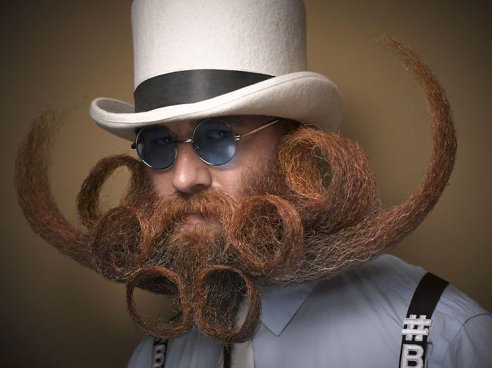 Le barbe e baffi più stravaganti del Beard and Moustache Championships 2016
