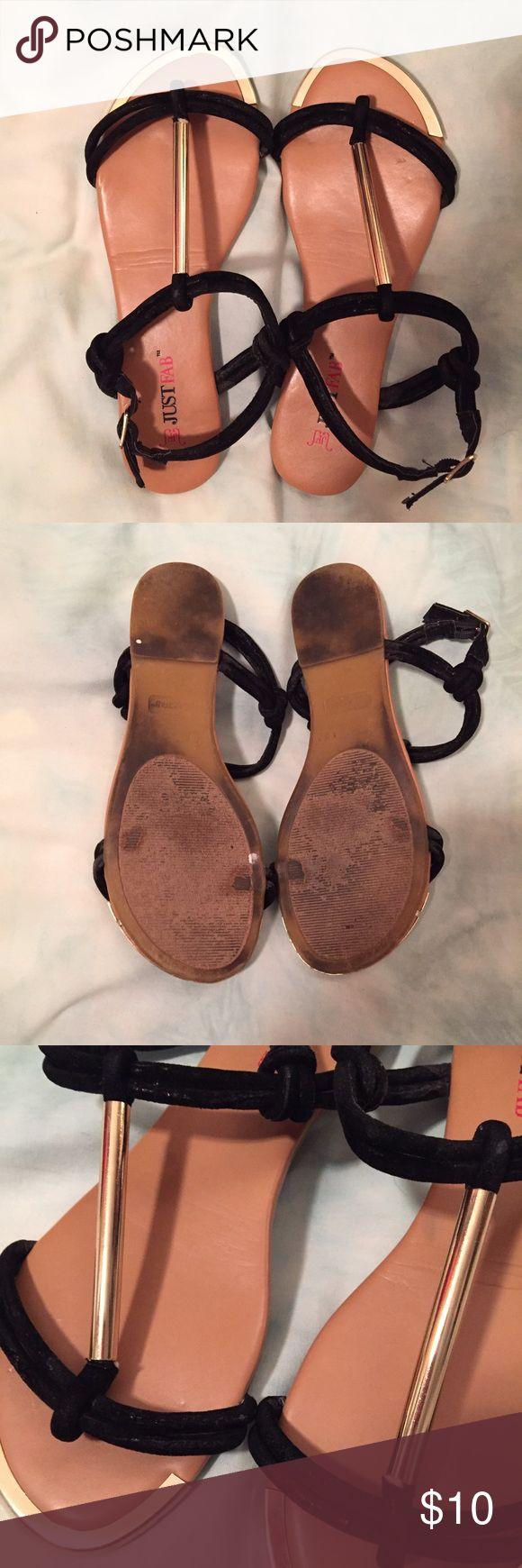 Black sandals gold bar - Black Sandals Gold Bar 42