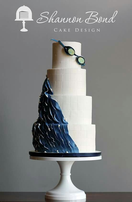 Abstract Swimming Cake