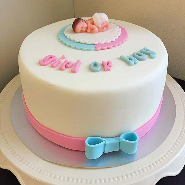 41 Cute And Fun Gender Reveal Cake Ideas In 2020 With Images