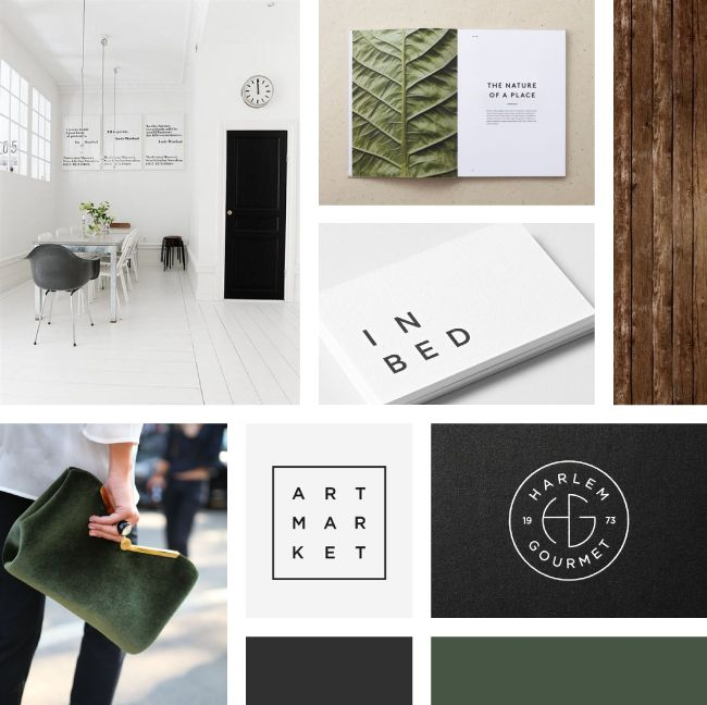 Green + Modern Moodboard | Curated by Rowan Made