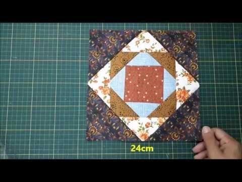 Patchwork Diamonds - Patchworkový ubrus Diamant - YouTube