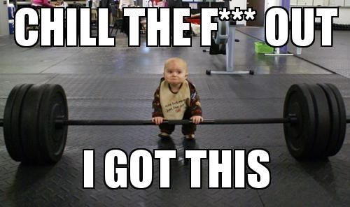 baby Weightlifting Meme | Slapcaption.com
