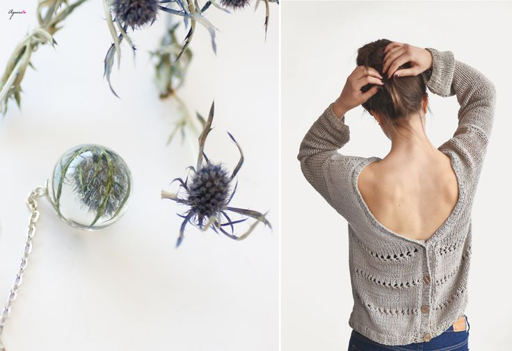 Sphere resin botanical necklace and open back knitted sweater  Sweater https://www.etsy.com/listing/122168090/hand-knit-open-back-sweater-oversized?ref=favs_view_5 Sphere necklace https://www.etsy.com/listing/199077637/sphere-resin-necklace-globe-pendant-blue?ref=shop_home_active_15  #sphere #resin #nechlace #botanical #openbacksweater #sweater #knitted #grey #open #back #women #fashion
