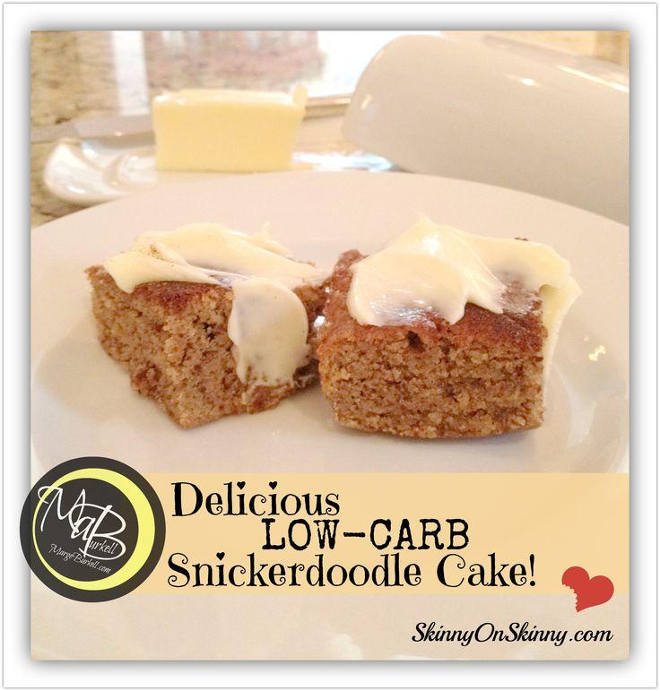 Marge Burkell – Köstlicher kohlenhydratarmer Snickerdoodle-Kuchen!