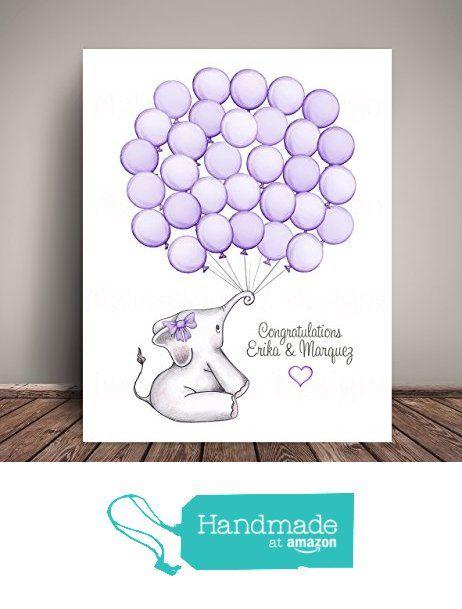 Elephant Baby Shower Guest Book Alternative, Nursery Art Print, Balloon  Guest Book, Choose
