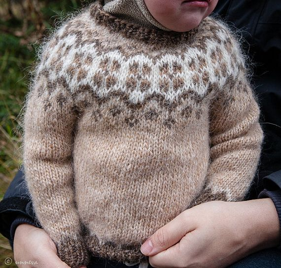 Floral Lopi Sweater от unneva на Etsy