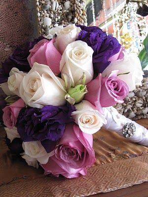 Lavender, Purple and White Bouquet...I want lavender in my future wedding soooo bad in honor of my grandma <3