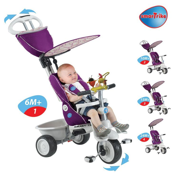 Smart Trike Recliner Purple With Toy Bar Toysrus