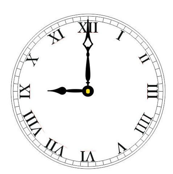 clock face template pattern vector art svg eps ai png dxf