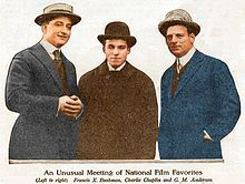 1915 photo of Charles Chaplin with Broncho Billy Anderson - Wikipedia, the free encyclopedia
