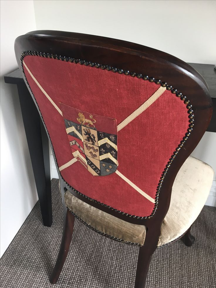 One of our beautiful new desk chairs in our Kingfisher Room