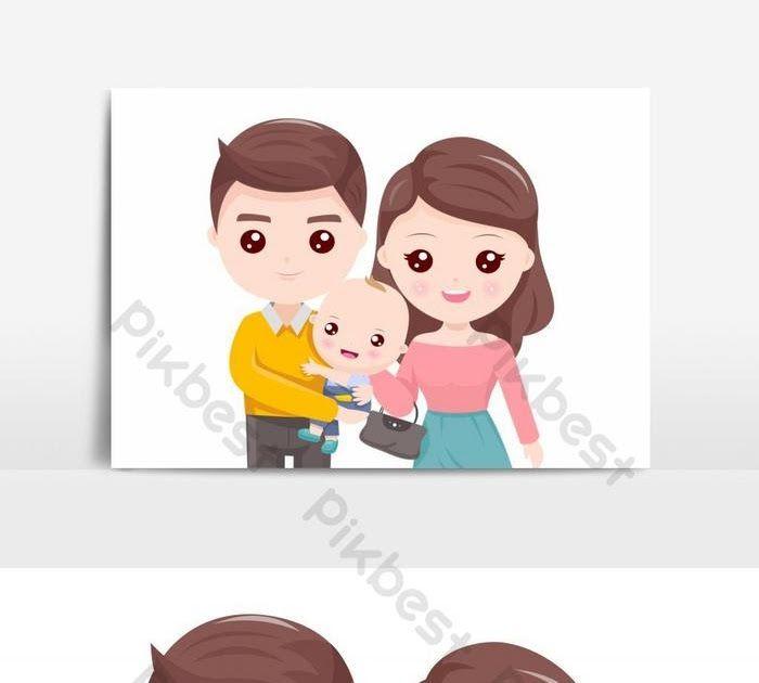 30 Gambar Kartun Ibu Anak Ayah Di 2020 Kartun Hari Ayah