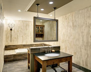 Exceptional Mirror Suspended From Ceiling Design Ideas, Pictures, Remodel, And Decor