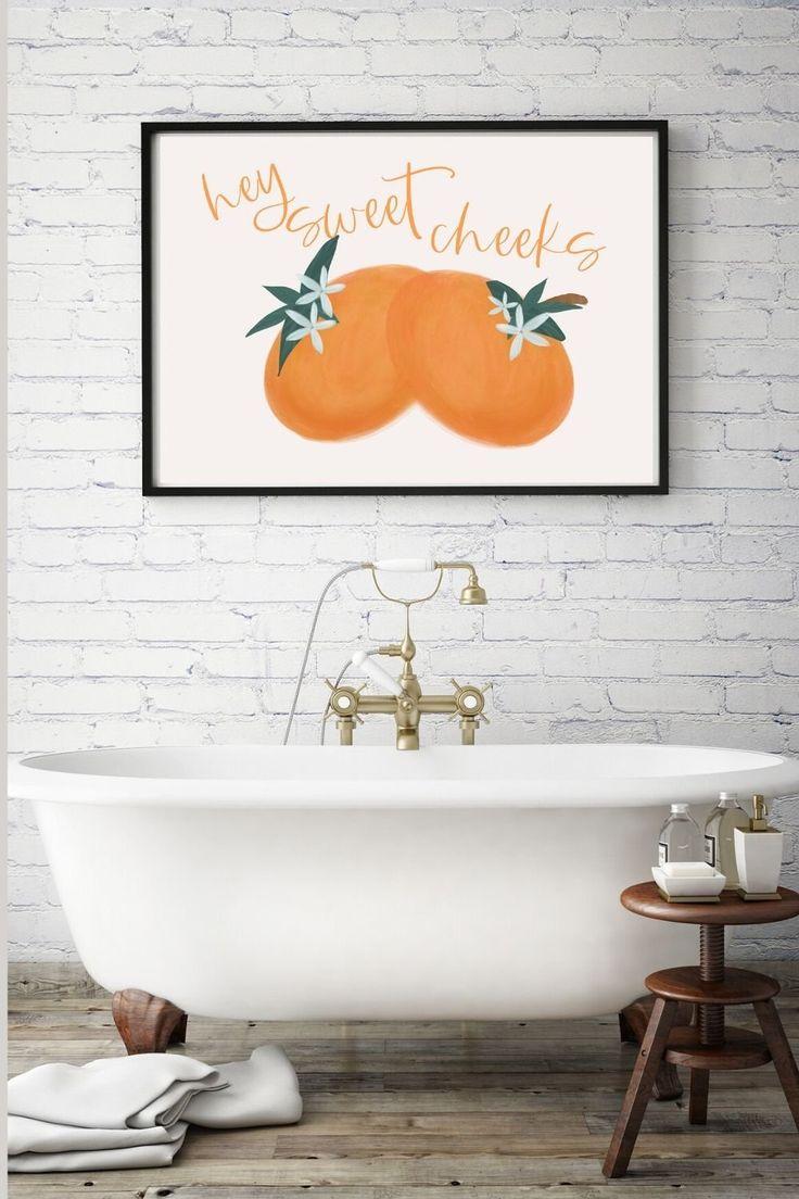 Hey sweet cheeks svg bathroom svg sign svg farmhouse svg
