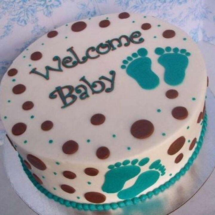 Cute Cake Designs Easy : Welcome baby simple cute cake Cake Designs Pinterest