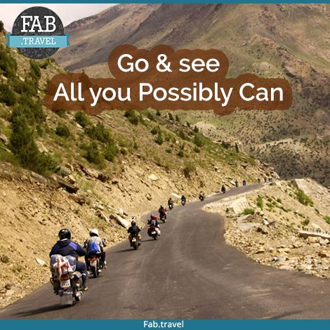 #TravelFabulously  Make your plan and Enjoy the most exciting #RoadTrip in #India with Adventures with #FabTravel.