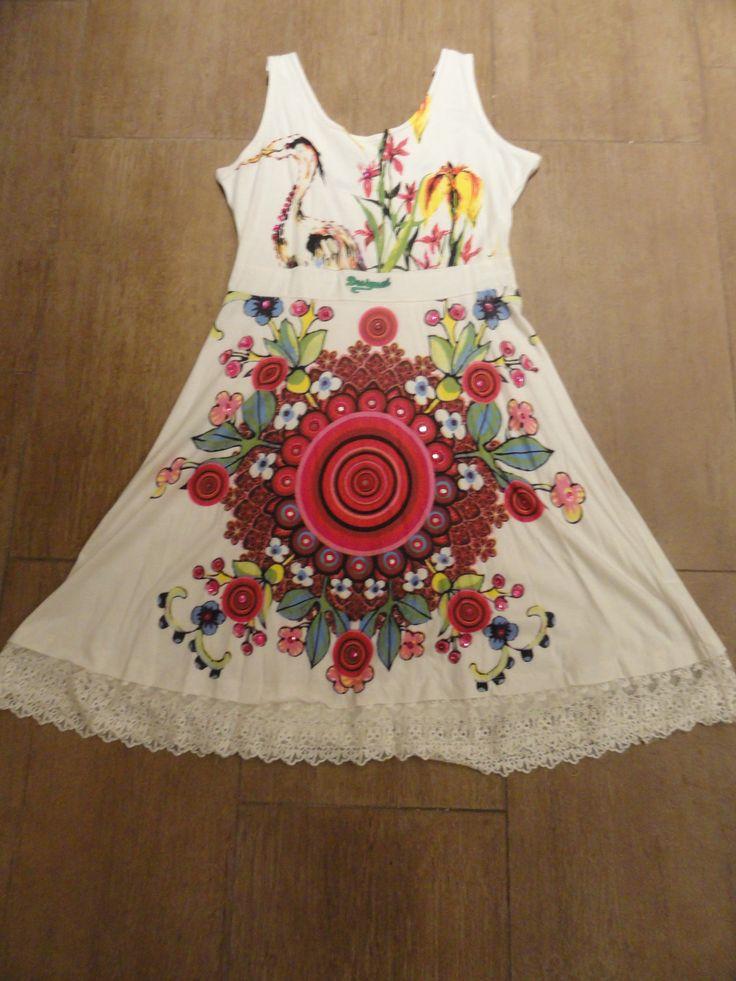 Desigual dress white print sleeveless
