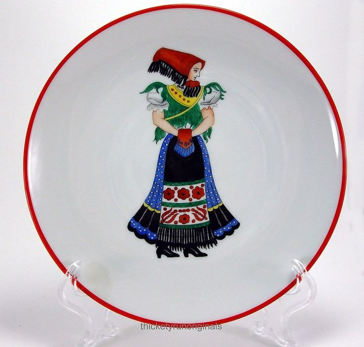 HEREND Porcelain  PLATE MATYO LADY IN COSTUME   100th Anniversary