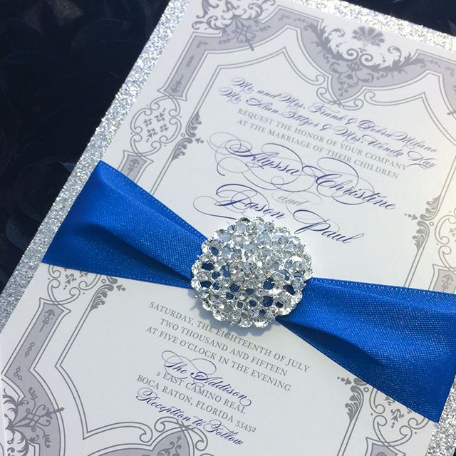Blue and Silver Formal Invitation Suite by Platinum Shoppette (Los Angeles, CA)