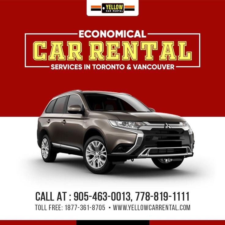 Economical Car Rental Yellow car, Car rental, Car