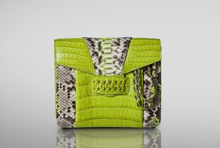 CASHHIMI | Charlton cross-body | Crocodile mixed w/ Python