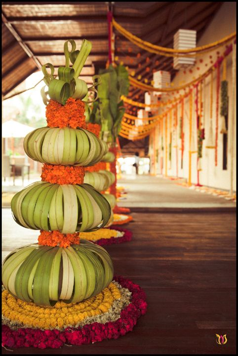 Marigold wedding arrangement - 3productionwedding.com