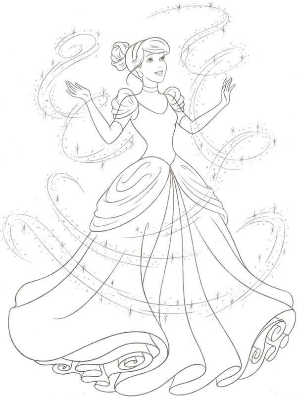 New Princess Coloring Pages : Disney princess new redesign style guide art by cyndy