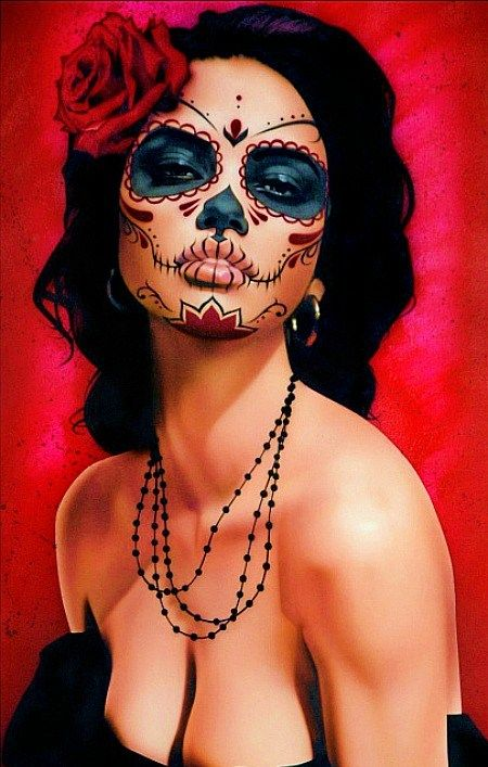New School Green Day Of The Dead Tattoos For Women | catrina # tattoo # tattoo artist # day of the dead