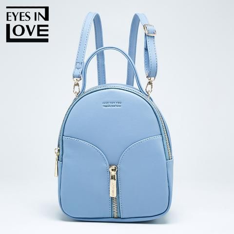 56e121abc666 Eyes In Love small Leather backpack female new design women school ...