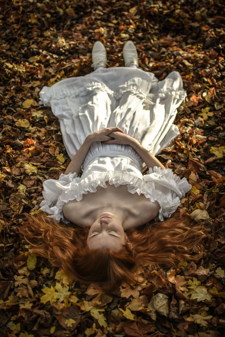 'Sleeping Doll' Self-portrait by Sophia Perkins. Inspired by the Pre-Raphaelite movement.