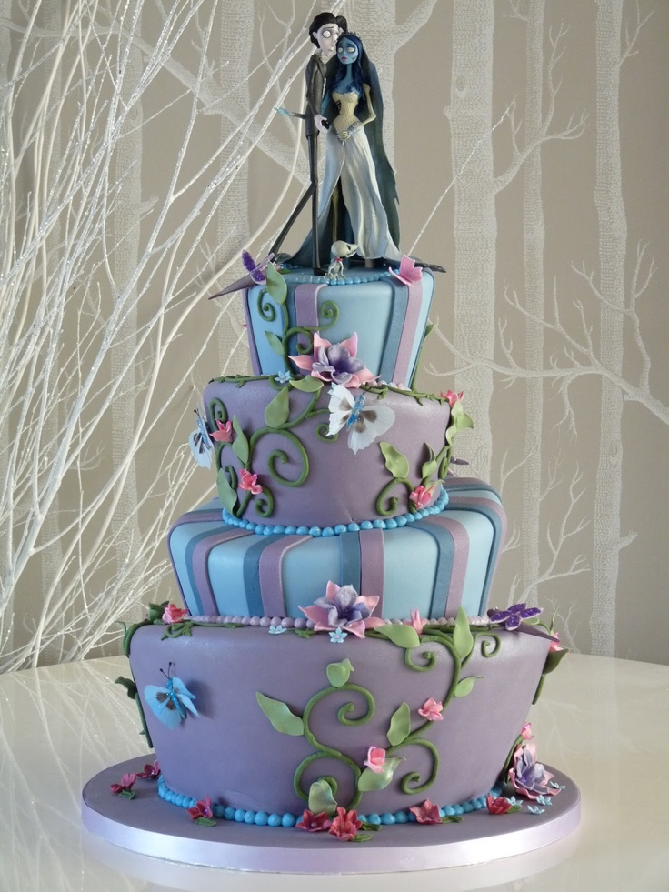 Rachelle's Beautiful Bespoke Cakes: Tim Burton-inspired wedding cake