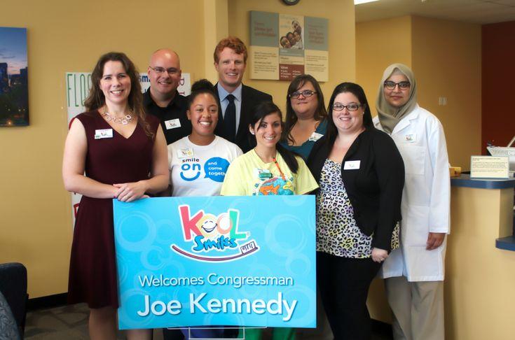 @DENTALCRISIS #SAVE #USA Rep. Joe K III Get's #Educated. U.S. Rep. Joe Kennedy III In Pic. At Fall River Kool Smiles Dental And Learns: #USA #DentalCrisis. Est. 1/3 #World #BiochipVictims