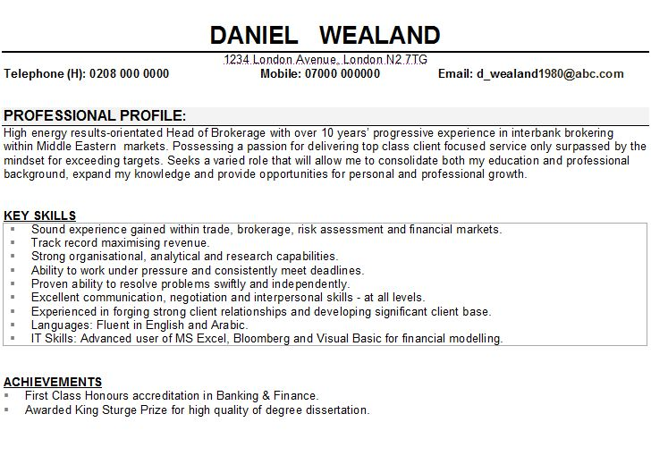 Banking Resume Template Free - http://www.resumecareer.info/banking-resume-template-free-17/