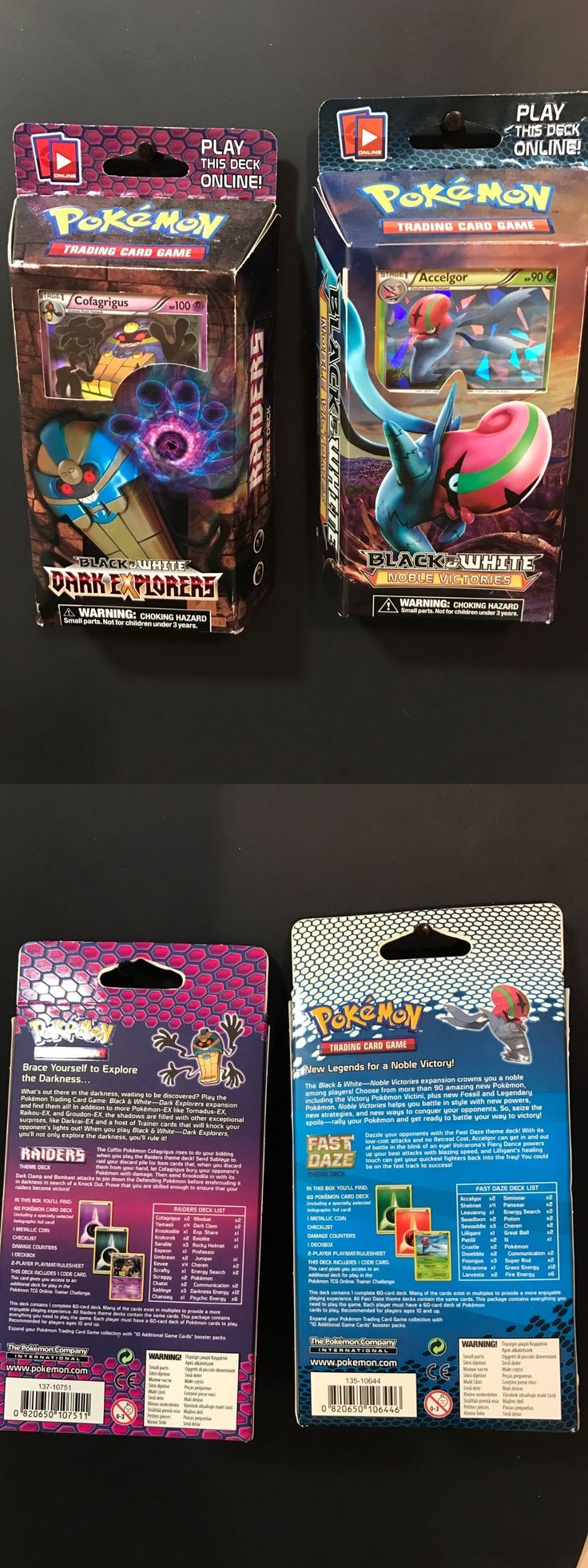Pok mon Sealed Decks and Kits 183467: Pokemon Deck Lot Black And White Dark Explores And Noble Victories Lot -> BUY IT NOW ONLY: $39.99 on eBay!