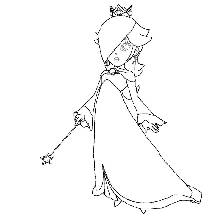 Princess Rosalina Lineart By Anaisabel22 On Deviantart Mario Princess Coloring Pages Printable