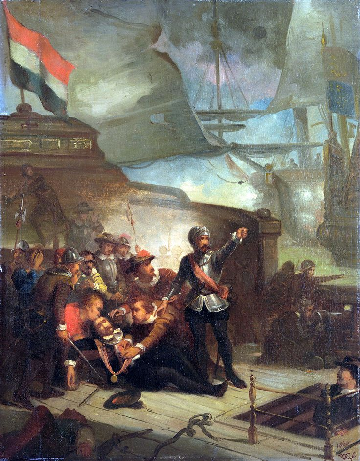 Death of Admiral Marten Tromp, Anglo-Dutch War