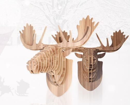 Wooden deer head, wall mount, wall decoration item for sale! rudy1919@gmail.com,