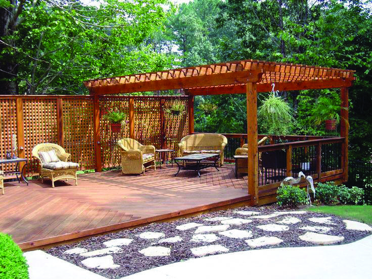Floating Deck Style Concepts Decks Backyard Outdoor Pergola